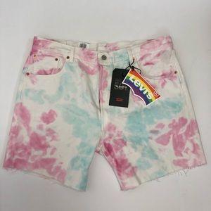NWD Levi's 501 '93 Shorts Tie Dye Pride Cut-Off